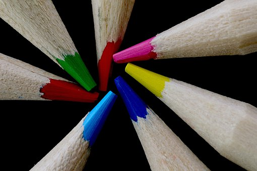 Escalate, Color Variety, Color, Art, Pencils, Pens