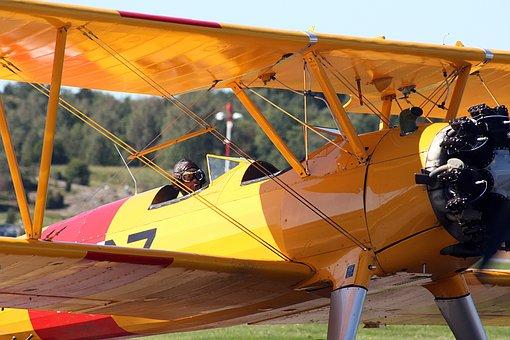 Airplane, Biplane, Plane, Aviation, Aircraft, Propeller