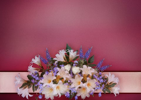 Flowers, Bouquet, Romantic, Lilies, Background Image