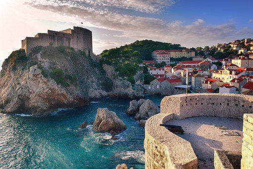 Croatia, Dubrovnic, Sea, Outdoors, Landscape, Scenery