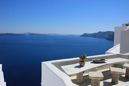 Santorini, Plants, Greece, Nature, Summer, Sea, Sky