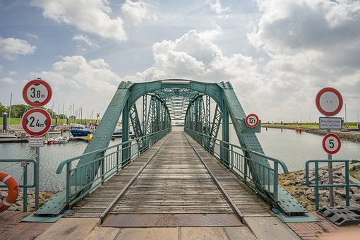 Nassau Bridge, Wilhelmshaven, Steel, Bridge, Port