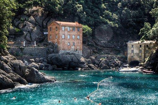 Liguria, Camogli, Tourism, Summer, Holidays, Genoa