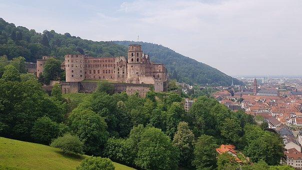 Heidelberg, Castle, Fortress, Tourism, City, Building