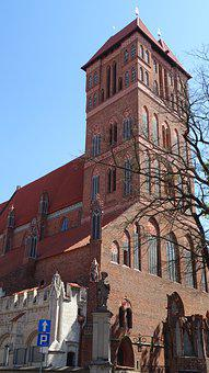 Tower, Church, The Cathedral, Brick, Gothic