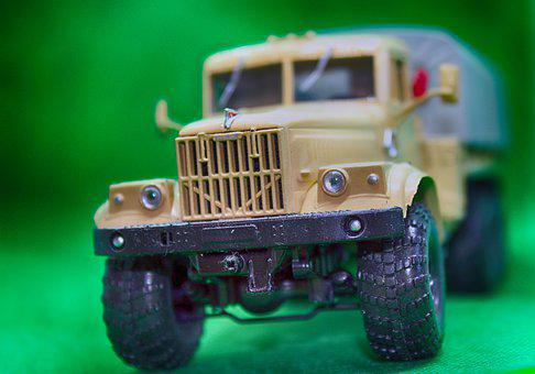 Car, Machine, Truck, Model, Toy, Auto, Kraz
