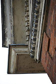 Abandoned, Antique, Building, Trim, Details