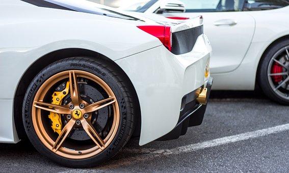 Ferrari, Vehicle, Automobile, Drive, Luxury, White, Car