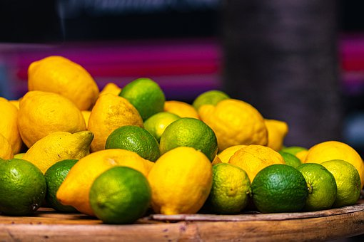Lemon, Lime, Fruit, Citrus Fruits, Sour, Green, Yellow