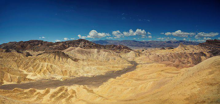 Death Valley, Zabriskie Point, California, Landscape