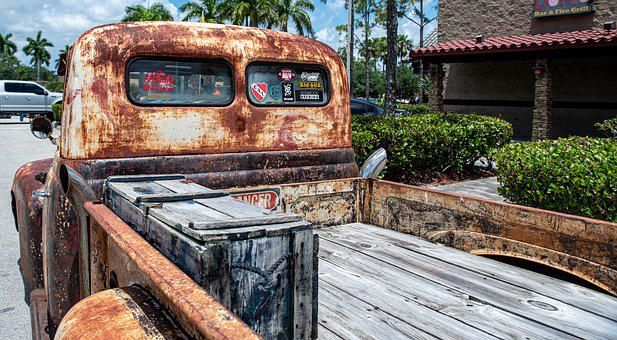 Truck, Pickup, Rust, Antique Vehicle, Old Rusted Truck
