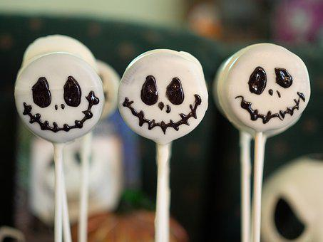 Cake Pop, Dessert, Jack Skellington, Halloween