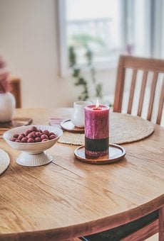 Table, Candle, Decoration, Romantic, Celebration
