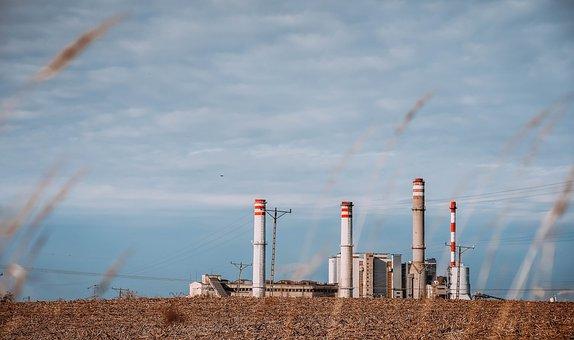Factory, Power Station, Chimney, Chimneys, The Industry