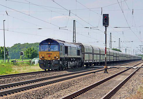 Freight Train, Block Train, Diesel Locomotive, Class 77