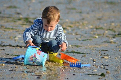 Child, Beach, Marin, Family, Sea, Children, Happy