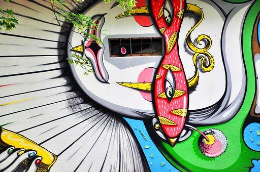 Clown, Murals, Figure, Wall, Human, Graffiti, Drawing