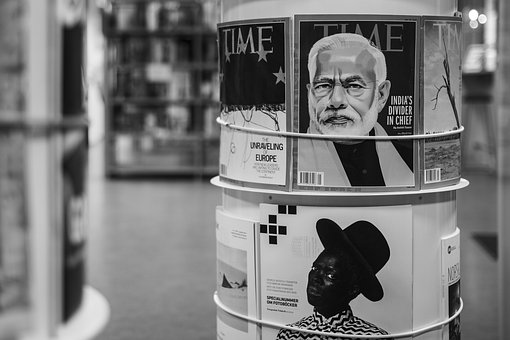Magazine, Time, Stand, Library, University, Blur