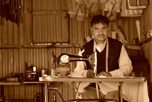 Tailor, Rajasthan, Man, Small Shop, Cultural, Services