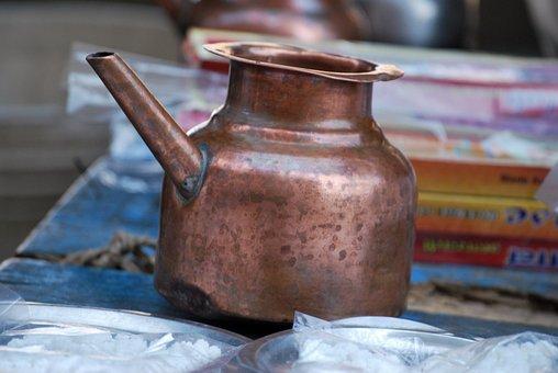 Tea Pot, Pot, Cultural, Copper, Kitchenware, Pour