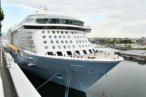 The Docked Ship, Passenger Ship, Ship At Water Front
