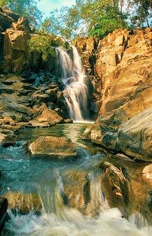 Waterfall, Landscape, Water, Rock, Rocks, River, Stream