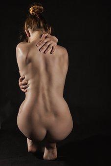 Woman, Nude, Naked, Model, Skin, Hands, Sensual, Back