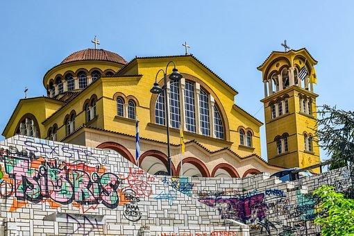 Church, Architecture, Religion, Building, Graffiti