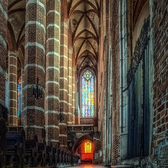 The Cathedral, Church, Aisle, The Gothic, Architecture