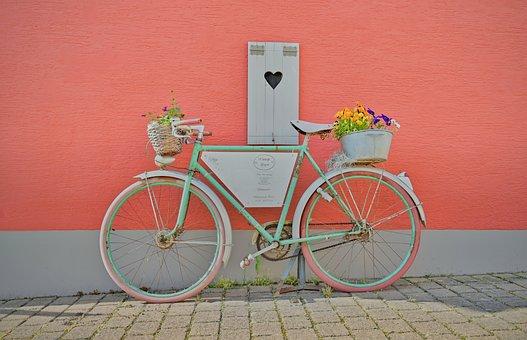 Bike, Deco, Decoration, Decorative, Advertising Sign