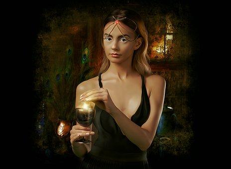 Fantasy, Portrait, Fantasy Portrait, Dark, History