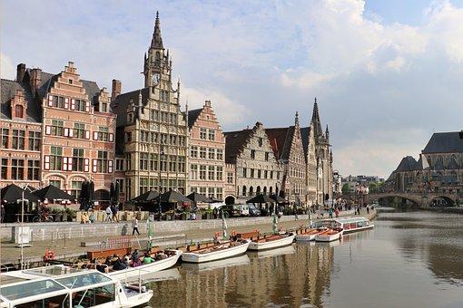 Gent, Belgium, City, Flanders, Architecture, Building