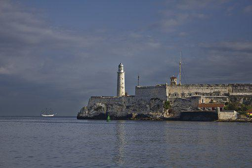 Cuba, Havana, Lighthouse, Historical, Island, Sea