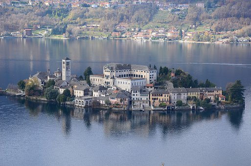 Orta San Giulio, Italy, Landscape, Lake, Water, Tourism
