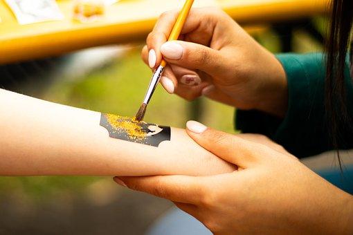 Hand, Paint, Art, Hand Paint, Handprint, Kindergarten