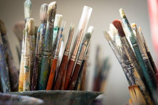 Brushes, Paint, Artist, Painting, Painter, Color