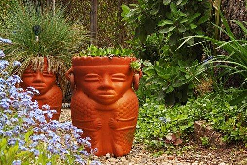 Terracotta, Planting Pot, Plant Rack, Garden, Flora