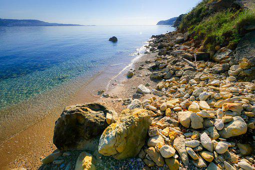 Sea, Beach, Pebble, Sand, Vacations, Water, Travel