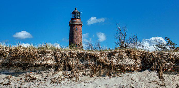 Baltic Sea, Prerow, Coast, Lighthouse, Sea, Beach