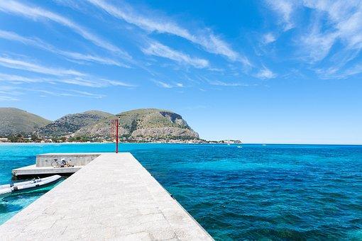 Mondello, Palermo, Pier, Sea, Fanale, Holidays, Italy