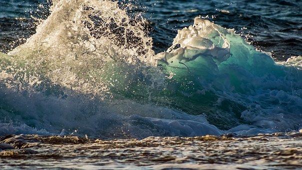 Wave, Surf, Sea, Water, Ocean, Spray, Splash, Motion