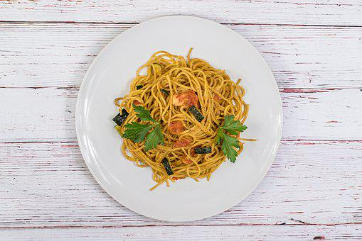 Spaghetti, Fresh, Pasta, Delicious, Wooden Table, Food