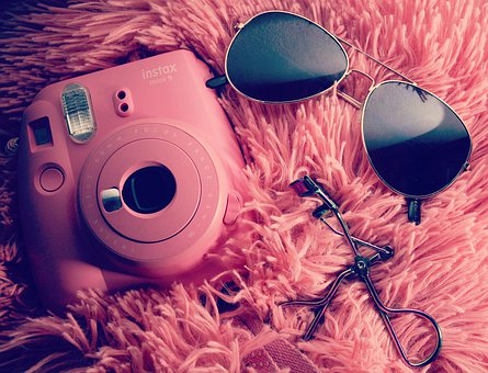 Style, Glasses, Instax, Instaxmini, Pink, Eyelashcurler