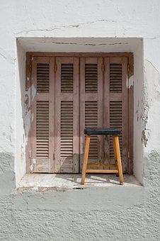 Chair, Wood, Window, Table, House, Home, Rustic