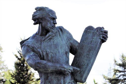 Moses Sculpture, Ten Commands, Statue, Mirogoj Cemetery