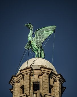 Liverpool, Liver Bird, Clock Tower, Tower, Building