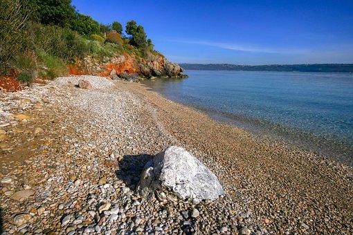 Bay, Sea, Beach, Pebble, Sand, Vacations, Water, Travel