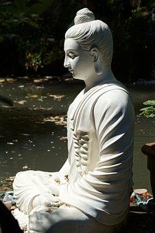 Buddha, Statue, Sculpture, Art, Asia, Nature, Woman