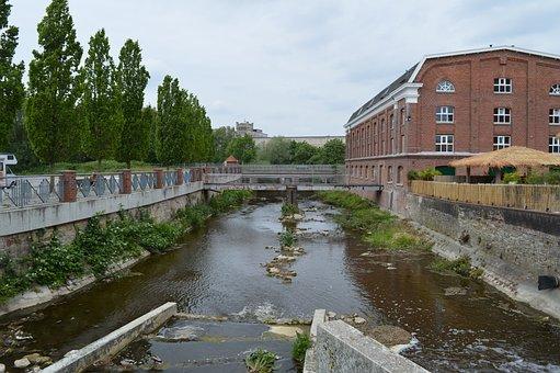 Gronau, River, Water, Bridge, Stone, Bach, Flowing