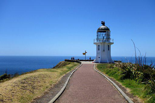 Newzealand, Lighthouse, Cape Reinga, Attraction